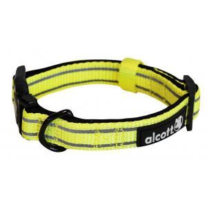 Alcott reflexní obojek pro psy žlutý, velikost L