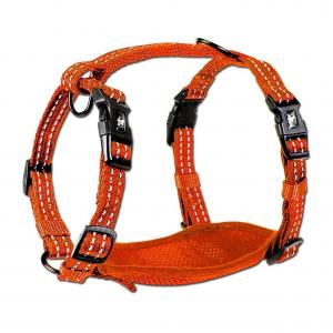 Alcott reflexní postroj pro psy oranžový, velikost S