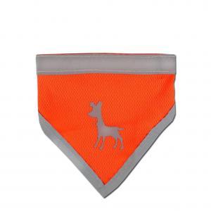 Alcott reflexní šátek pro psy oranžový, velikost S