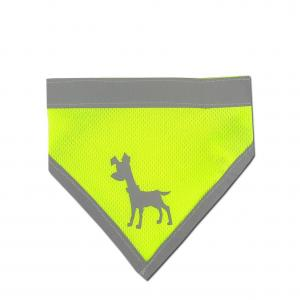 Alcott reflexní šátek pro psy žlutý, velikost L