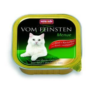 ANIMONDA paštika MENUE - hovězí + brambory pro kočky 100g