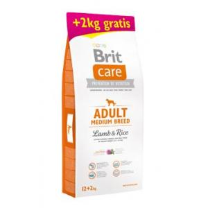 Brit Care Dog Adult Medium Breed Lamb & Rice 12 + 2kg