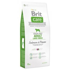 "Brit Care Dog Grain-free Adult LB Salmon & Potato 12kg + ""Barel"""