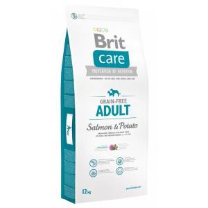 "Brit Care Dog Grain-free Adult Salmon & Potato 12kg + ""Barel"""