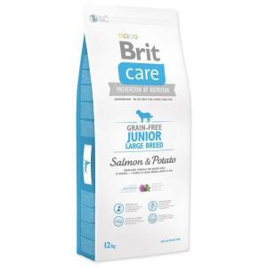 "Brit Care Dog Grain-free Junior LB Salmon & Potato 12kg + ""Barel"""