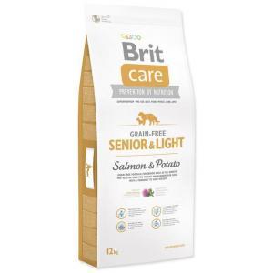 "Brit Care Dog Grain-free Senior Salmon & Potato 12kg + ""Barel"""