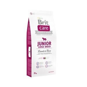 """Brit Care Dog Junior Large Breed 12kg + """"Barel"""""""