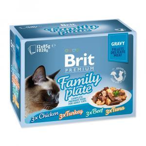Brit Premium Cat Pouch Family Plate Gravy 1020g