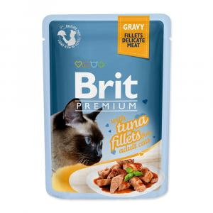 Brit Premium Cat Pouch with Tuna Fillets in Gravy for Adult Cats 85g