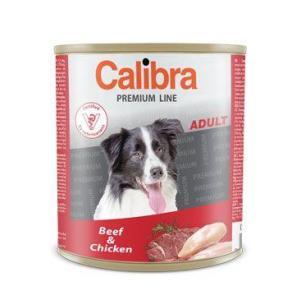 Calibra Dog konz. Premium Adult hovězí+kuře 800g