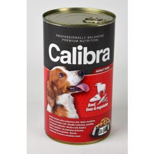 Calibra Dog konzerva hovězí + játra + zelenina v želé 1240g