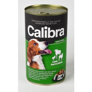 Calibra Dog konzerva jehněčí + hovězí + kuřecí v želé 1240g