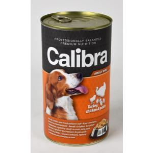 Calibra Dog konzerva krůta + kuřecí + těstoviny v želé 1240g