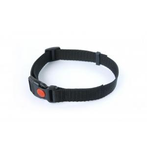 Dog Trace Tkaný řemen s bezpečnostní sponou černý 25mm x 75cm