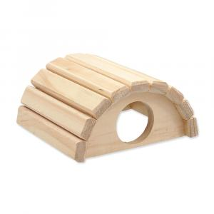 Domek SMALL ANIMAL Půlkruh dřevěný 16,5x15x8cm