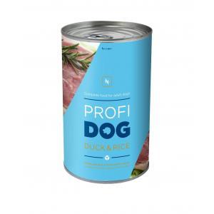 ECO PACK PROFIDOG konzerva kousky s kachním, rýží a mrkví v omáčce 1240g NEW 12 ks