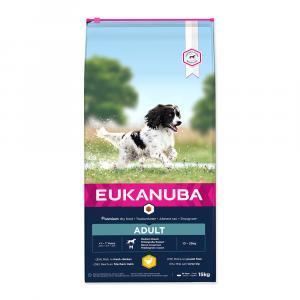 "Eukanuba Adult Medium Breed 15 kg + ""Rinti 500g"" + DOPRAVA ZDARMA"