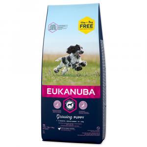 Eukanuba Puppy & Junior Medium Breed 15 + 3 kg