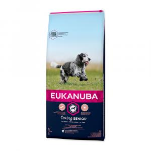 EUKANUBA Senior Medium 15kg + DOPRAVA ZDARMA