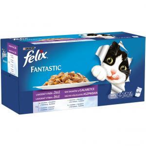 FELIX Fantastic Multipack - kuře, hovězí, losos, tuňák 44x100g