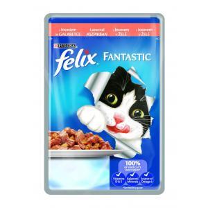 FELIX Fantastic - s lososem v želé 100g