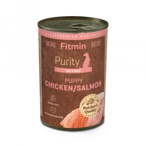 Fitmin dog Purity tin PUPPY salmon with chicken 400g