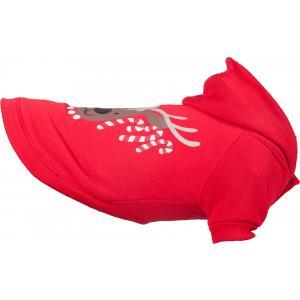 Flamingo Vianočné mikina pre psov červená 35cm