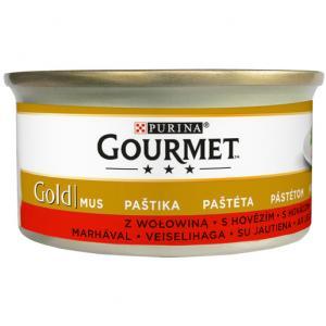 GOURMET Gold KK 24*85g Jemná paštika s hovězím - pelable label