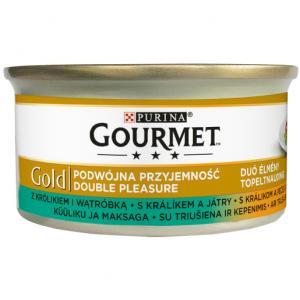 GOURMET Gold KK 24*85g Směs dušených a grilovaných kousků s králíkem a játry
