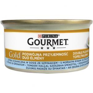 GOURMET Gold KK 24*85g Směs dušených a grilovaných kousků s mořskými rybami