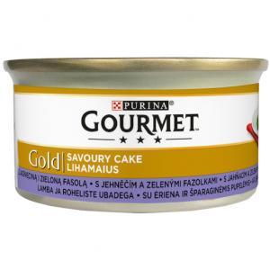 GOURMET Gold Savoury Cake KK s jehněčím a zelenými fazolkami 85g