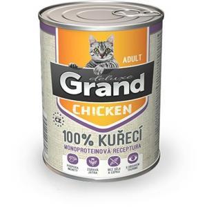 GRAND deluxe 100% Kuřecí pro kočku Adult 400 g
