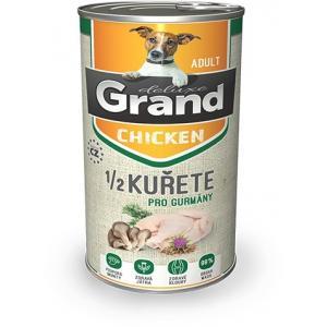 GRAND deluxe 100% Kuřecí s 1/2 kuřete Adult 1300 g