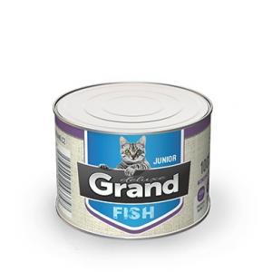 GRAND deluxe 100% Rybí pro kočku Junior 180 g