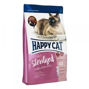 Happy Cat Sterilised Voralpen-Rind / Hovězí 10 kg