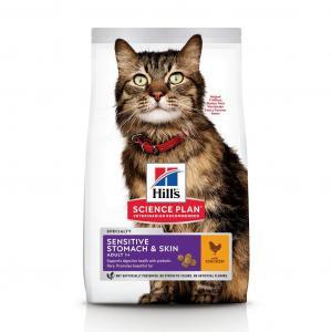 Hill's Feline Adult Sensitive Stomach & Skin Chicken 7 kg