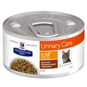 Hill's Prescription Diet Feline Stew c/d Multicare with Chicken & Vegetables 82g