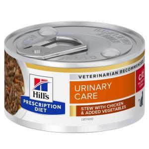 Hill's Prescription Diet Feline Stew c/d Urinary Stress with Chicken & Vegetables 82g
