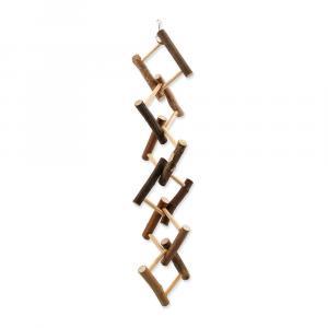 Hračka BIRD JEWEL dřevěná proplétaná 14x55cm