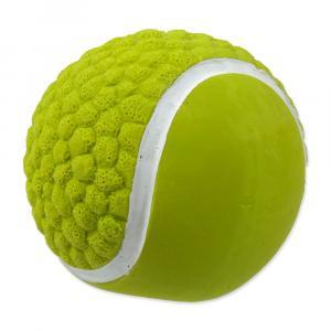 Hračka DOG FANTASY Latex míč tenisový se zvukem 7,5 cm