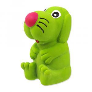 Hračka DOG FANTASY Latex pes so zvukom mix farieb 8 cm