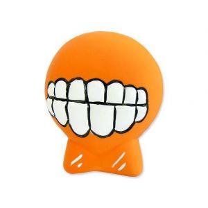 Hračka DOG FANTASY Latex zuby se zvukem oranžové 7 cm