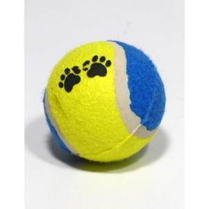 Hračka pes Míč tenisový barevný 6,5cm TR