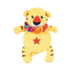 Hračka pes ROUND TIGER plyš žlutá 24cm Zolux