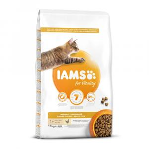 IAMS for Vitality Adult Cat Food Hairball Reduction with Fresh Chicken 10kg
