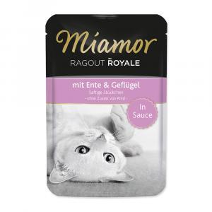 Kapsička MIAMOR Ragout Royale kachna + drůbež ve šťávě 100g