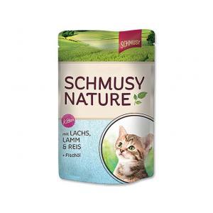 Kapsička Schmusy Nature´s Menü Junior losos + jehně 100 g