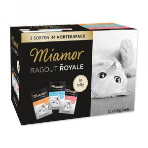 Kapsičky MIAMOR Ragout Royale multipack krůta, losos, telecí v želé 1200g