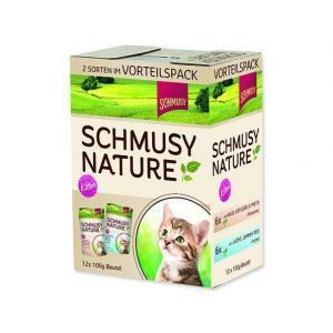 Kapsičky SCHMUSY Nature Kitten multipack (1200g)