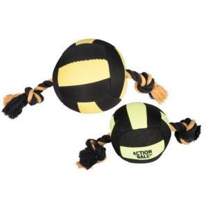 Karlie-Flamingo hračka akční balón, černý/žlutý, 13cm